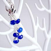 Украшения handmade. Livemaster - original item Earrings silver bright blue quartz