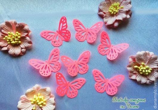 Свадебные аксессуары ручной работы. Ярмарка Мастеров - ручная работа. Купить Ажурные бабочки. Набор 10 штук. Handmade. Бабочки