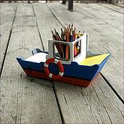 Карандашницы ручной работы. Ярмарка Мастеров - ручная работа Карандашница корабль. Handmade.