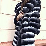 Одежда ручной работы. Ярмарка Мастеров - ручная работа Шуба из шиншиллы. Handmade.
