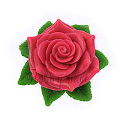Материалы для творчества handmade. Livemaster - original item Silicone molds for soap rose in the leaves. Handmade.
