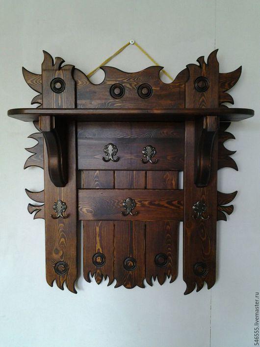 Мебель ручной работы. Ярмарка Мастеров - ручная работа. Купить Вешалка в баню. Handmade. Вешалка деревянная, небольшая вешалка