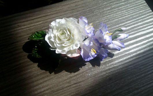 Заколки ручной работы. Ярмарка Мастеров - ручная работа. Купить Заколочка с цветами. Handmade. Заколка с цветами, украшения ручной работы