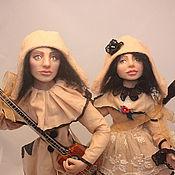 Куклы и игрушки ручной работы. Ярмарка Мастеров - ручная работа Авторская кукла: Пьерро и Пьеретта. Серия: Парочки (Продана). Handmade.