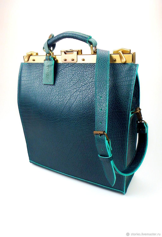 Buy leather handbag Ossag Emerald, leather briefcase, Office bag, Valise, Dubna,  Фото №1