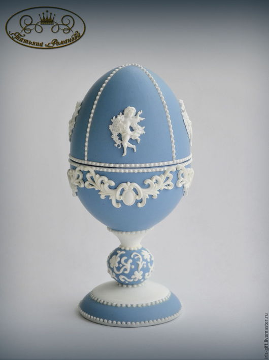 Яйцо-шкатулка `Мысли о Веджвуде`