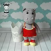 Материалы для творчества handmade. Livemaster - original item Master class on crochet toys, Hippo Gennady. Handmade.