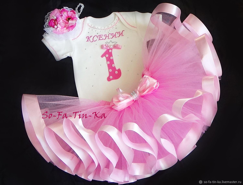 Одежда для девочек, ручной работы. Ярмарка Мастеров - ручная работа. Купить Комплект на первый день рождения с вышивкой 30. Handmade.