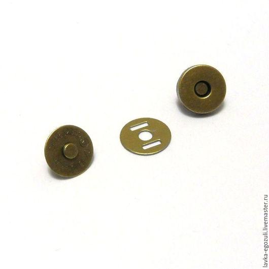 Другие виды рукоделия ручной работы. Ярмарка Мастеров - ручная работа. Купить Кнопка магнитная 14 мм, бронза. Handmade.