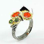"""Украшения ручной работы. Ярмарка Мастеров - ручная работа """" Апельсинки"""" кольцо с натуральным сердоликом. Handmade."""