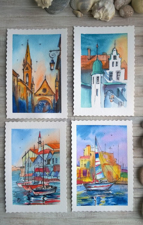 Наборы открыток путешествия, открытки поздравительные 2019