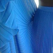 Одежда ручной работы. Ярмарка Мастеров - ручная работа Юбка Парижская синь гофре. Handmade.