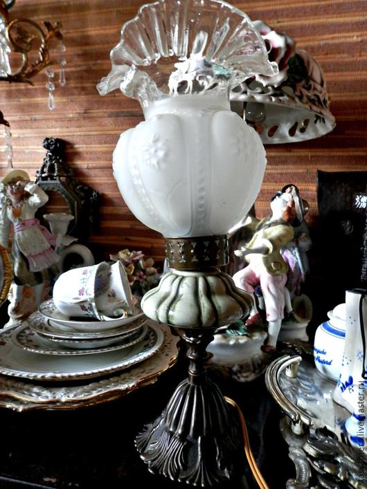 Винтажные предметы интерьера. Ярмарка Мастеров - ручная работа. Купить Старинная настольная лампа Уютная. Handmade. Лампа, освещение, антиквариат