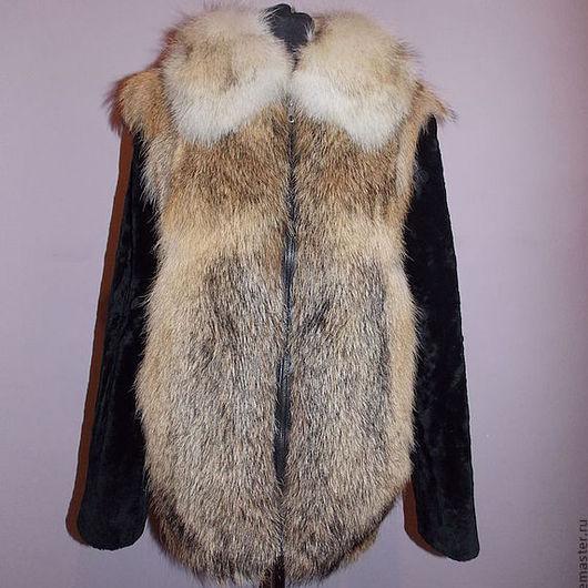 Мужская меховая куртка из шакала,рукава из мутона, теплое и ноское изделие.Пошив под заказ, по меркам, срок пошива 7-10 дней.На молнии или крючках на ваш выбор.