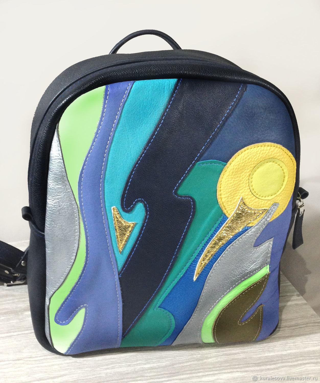 Leather backpack ' Northern lights', Backpacks, Belgorod,  Фото №1
