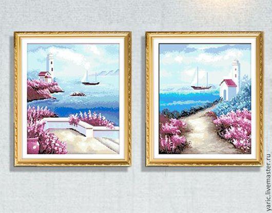 Набор для вышивки крестом Романтические острова диптих Распродажа!