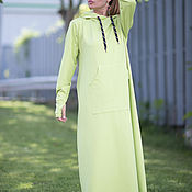 Одежда handmade. Livemaster - original item Sporty, long cotton dress - DR0088W2. Handmade.