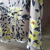 Одежда ручной работы. Ярмарка Мастеров - ручная работа Юбка из натурального шелка Blumarine с желтыми розами. Handmade.