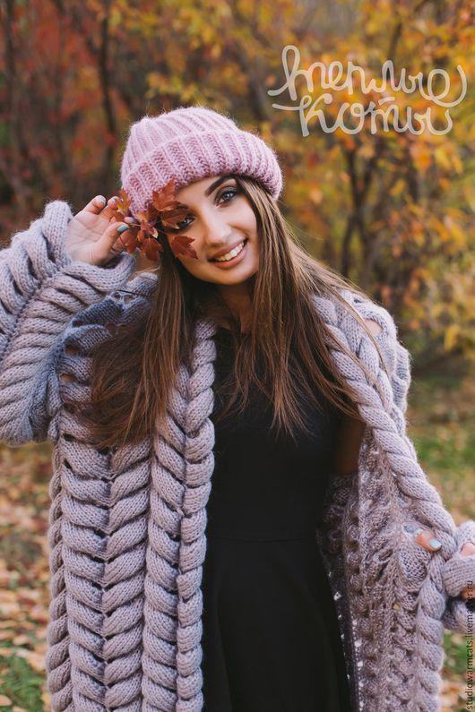 Кофты и свитера ручной работы. Ярмарка Мастеров - ручная работа. Купить Кардиган косами (вязаный, женский, пальто, азиатский колосок). Handmade.