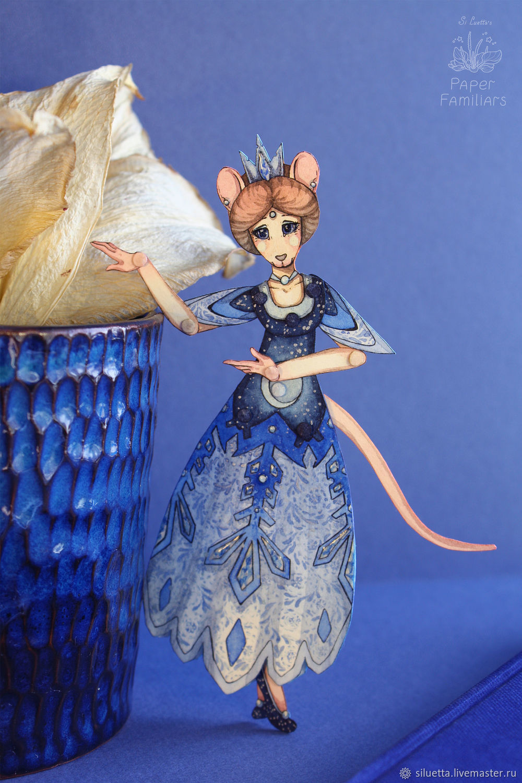 Бумажная кукла Лумиэнь, коллекция PaperFamiliars, Шарнирная кукла, Петропавловск-Камчатский,  Фото №1