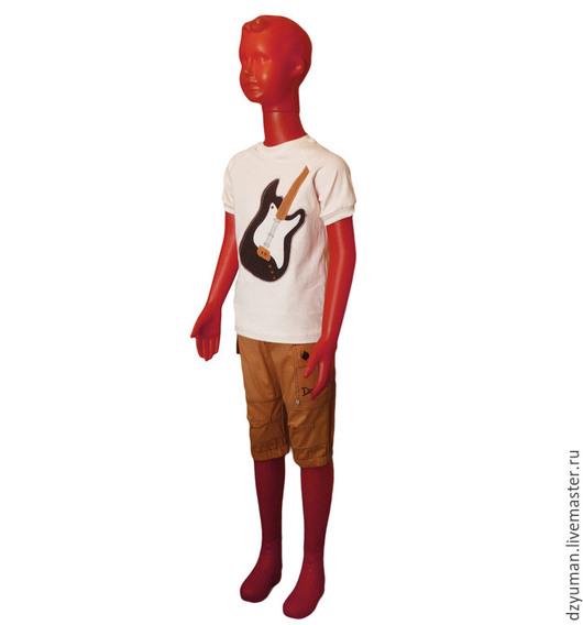 """Одежда для мальчиков, ручной работы. Ярмарка Мастеров - ручная работа. Купить Комплект """"Музыкант"""". Handmade. Разноцветный, футболка, Аппликация, трикотаж"""