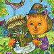 Детская ручной работы. Принт Подари мне зимнюю сказку. Добрая картина в детскую. Добрые акварели (yovin). Ярмарка Мастеров.