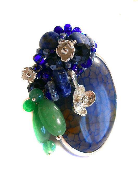 """Кольца ручной работы. Ярмарка Мастеров - ручная работа. Купить Кольцо """"Колокольчики-васильки"""". Handmade. Синий, кольцо, авторское украшение"""