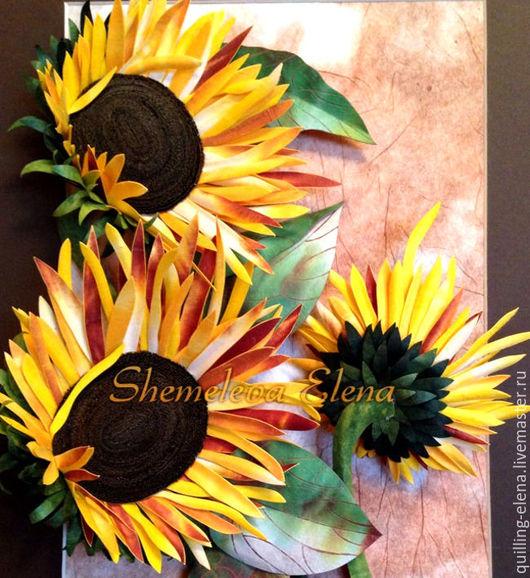 Картины цветов ручной работы. Ярмарка Мастеров - ручная работа. Купить Летняя гроза. Handmade. Коричневый, бумага ручной работы