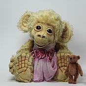 Куклы и игрушки ручной работы. Ярмарка Мастеров - ручная работа обезьянка Мими и медвежонок Нельсон. Handmade.