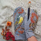 Аксессуары handmade. Livemaster - original item mittens Titmouse. Handmade.