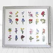 Картины и панно handmade. Livemaster - original item Cross stitch Herbarium. Handmade.