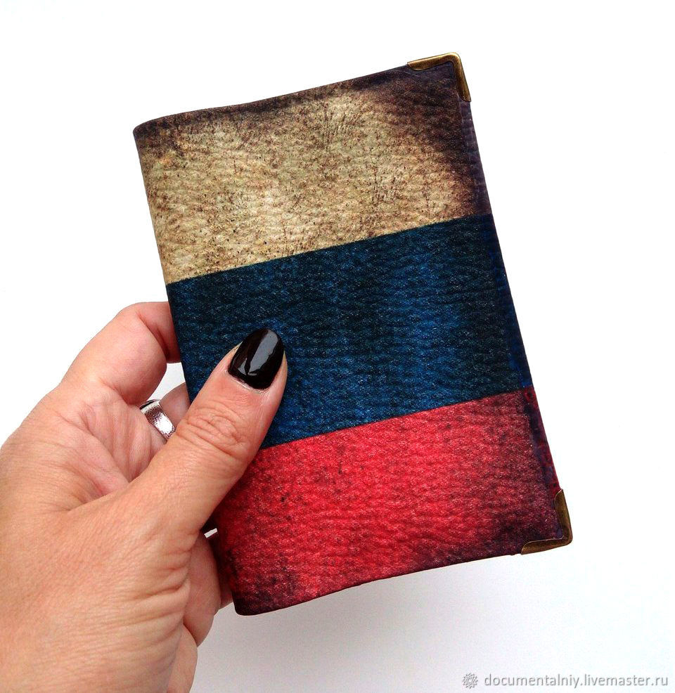 Passport cover. cover for documents. A Series Of 'Patriot', Passport cover, Obninsk,  Фото №1