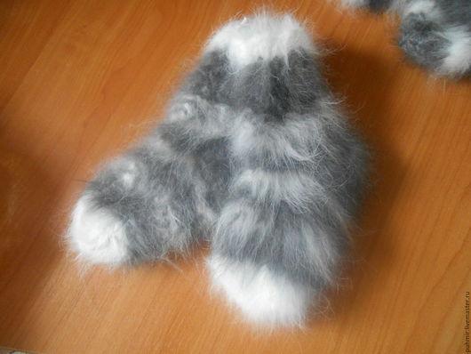 Носки детские из кроличьего пуха.С рисунками.Теплые,зимние.Размеры от 2х до 5 лет