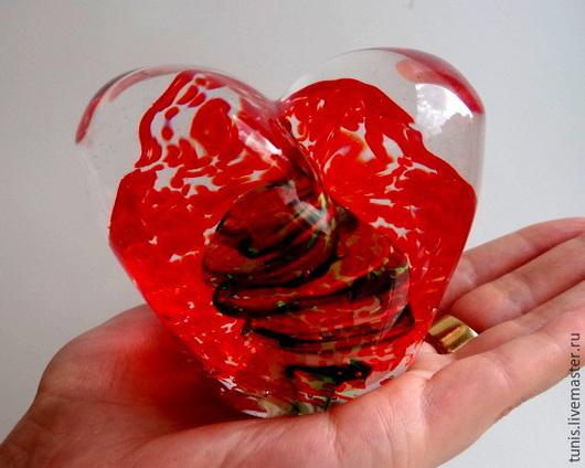 Подарки для влюбленных ручной работы. Ярмарка Мастеров - ручная работа. Купить Сердце стеклянное. Марбл.. Handmade. Сердце в подарок