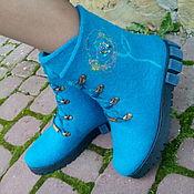 Обувь ручной работы. Ярмарка Мастеров - ручная работа Сапожки  зимние теплые Не аленький цветочек. Handmade.