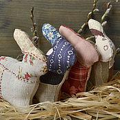 Куклы и игрушки ручной работы. Ярмарка Мастеров - ручная работа Лоскутная игрушка Заяц. Handmade.