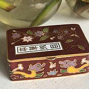 Винтаж handmade. Livemaster - original item Pillbox, cloisonne, Handmade, China. Handmade.