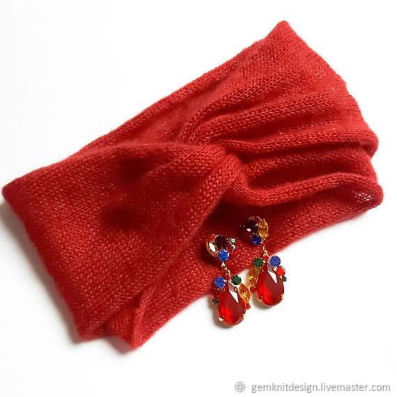 Mohair with silk headband