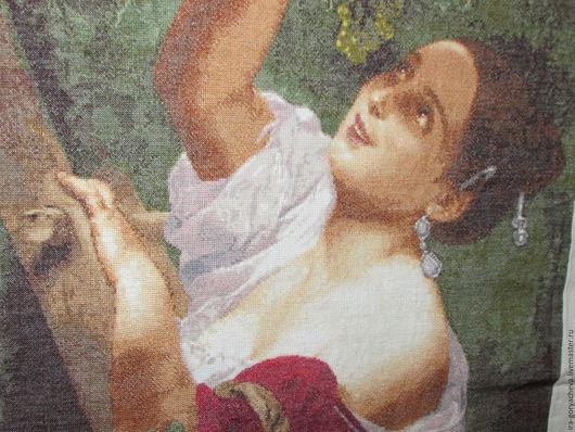 Репродукции ручной работы. Ярмарка Мастеров - ручная работа. Купить Итальянский полдень. Handmade. Разноцветный, италия, девушка и виноград