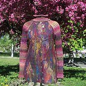 Одежда ручной работы. Ярмарка Мастеров - ручная работа Свитер валяно-вязаный Буйство красок. Handmade.