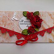 Свадебный салон ручной работы. Ярмарка Мастеров - ручная работа Подарочный конверт для денег «Cтрасть». Handmade.