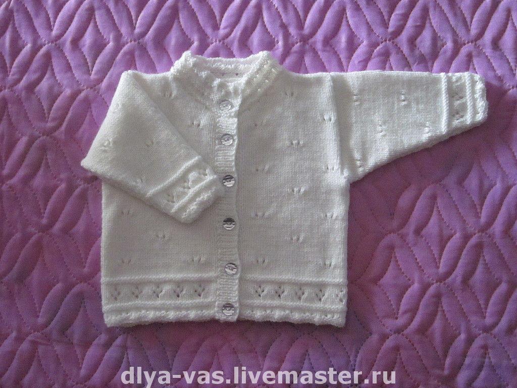 Вязание спицами кофточка для новорожденного спицами 76