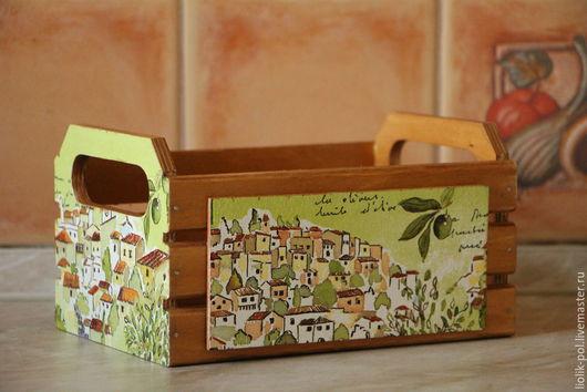 """Кухня ручной работы. Ярмарка Мастеров - ручная работа. Купить Короб-ящик  для специй, приправ """"Домик в оливковой роще"""". Handmade."""