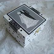 Шкатулки ручной работы. Ярмарка Мастеров - ручная работа Шкатулка Свадебная. Handmade.