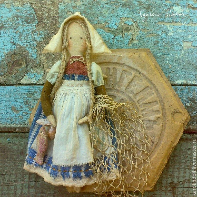 Человечки ручной работы. Ярмарка Мастеров - ручная работа. Купить Девочка и море. Handmade. Ангел, текстильная кукла, морской стиль