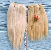 "Материалы для творчества handmade. Livemaster - original item Copy of Copy of mohair weft Blond, doll hair, 200-220"", 100 g. Handmade."