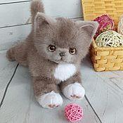 Игрушка из нат меха котенок Гоша