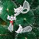 Новый год 2017 ручной работы. Кошки на елку.. Марина (ma-rine). Ярмарка Мастеров. Игрушка на елку, кот, кружево