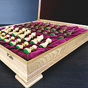 Активный отдых и развлечения handmade. Livemaster - original item Chess Classic, 43x43 cm, oak, handmade. Handmade.