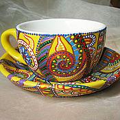 Посуда ручной работы. Ярмарка Мастеров - ручная работа Цветная карусель. Handmade.